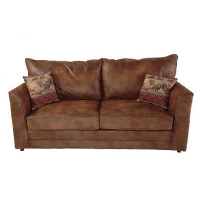 100 Series 77 in. Width Solid Pinto Microfiber Queen Size Sofa Bed