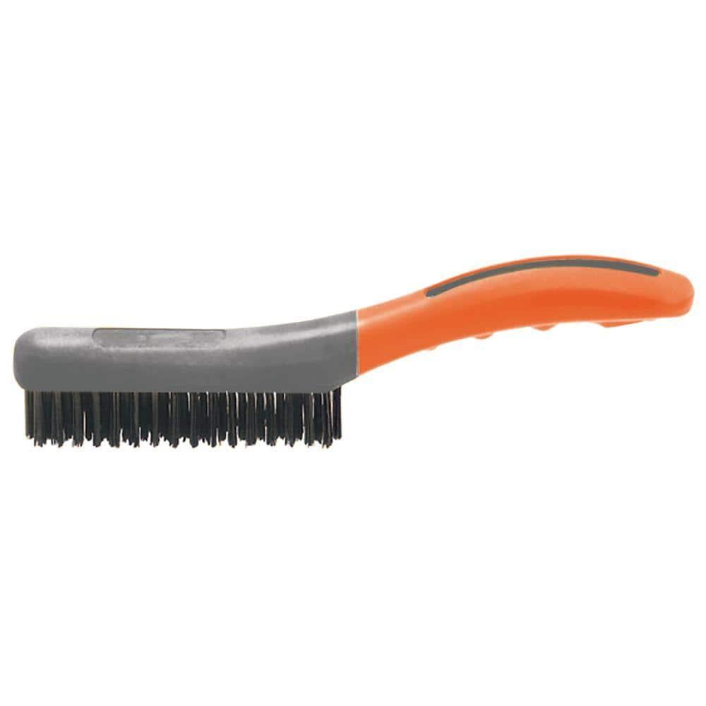 HDX 4 Row x 16 Row Soft Grip Carbon Wire Brush