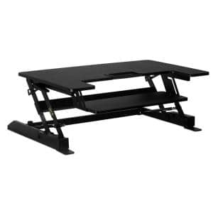 36.25 in. W Black Desk Converter with Gas Spring Converter Sit to Stand