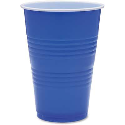 16 oz. Blue Plastic Party Cups (50 Per Case)