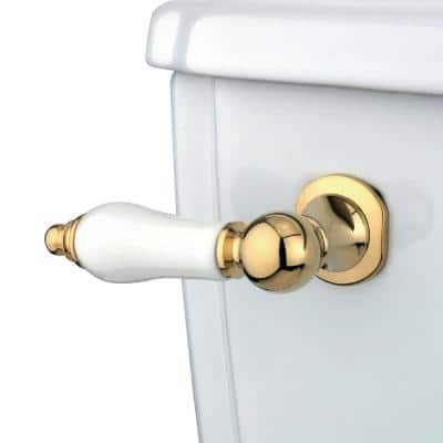 Victorian Toilet Tank Lever in Polished Brass