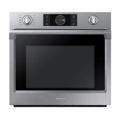 30 in. Single Electric Wall Oven with Steam Cook, Flex Duo and Dual Convection in Stainless Steel