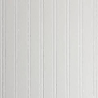 Beadboard Vinyl Pre-Pasted Wallpaper Roll (Covers 56.4 Sq. Ft.)