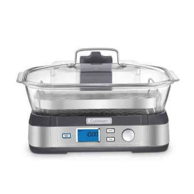 CookFresh 5.3 Qt. Stainless Steel Food Steamer and Rice Cooker