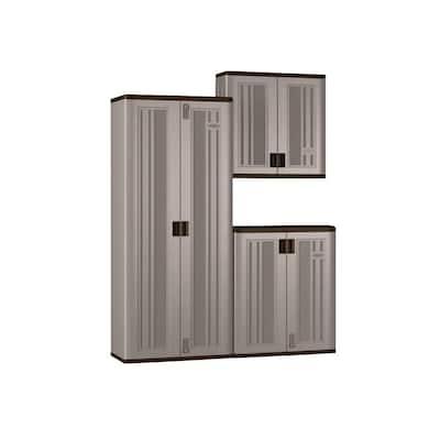 3-Piece Resin Garage Storage System in Platinum (90 in. W x 72 in. H x 20 in. D)