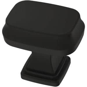 Brightened Opulence 1-5/16 in. (33 mm) Matte Black Cabinet Knob