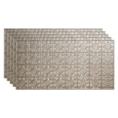 Traditional #1 2 ft. x 4 ft. Vintage Metal Glue Up Vinyl Ceiling Tile (40 sq. ft.)