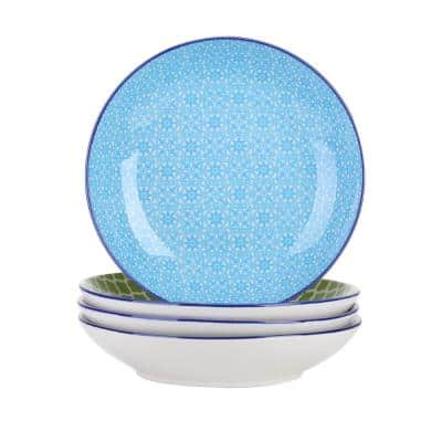 24.64 fl. oz. 4-Piece Modern Assorted Colors Porcelain Dinnerware Sets Soup (Service for Set for 4)