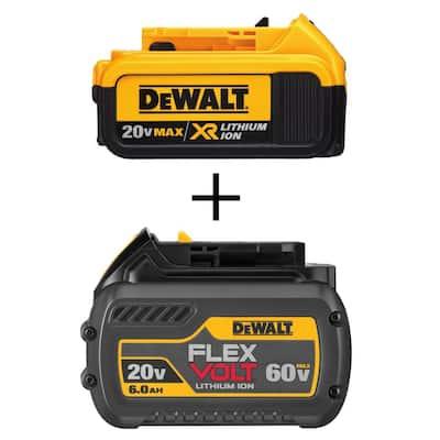 20-Volt MAX XR Premium Lithium-Ion 4.0Ah Battery Pack with FLEXVOLT 20-Volt/60-Volt MAX Lithium-Ion Battery Pack