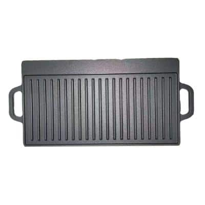 Geo 2-Piece Black Patio BBQ Grill Plates Set