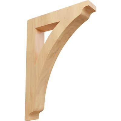 1-3/4 in. x 12 in. x 8-1/2 in. Red Oak Large Thorton Bracket