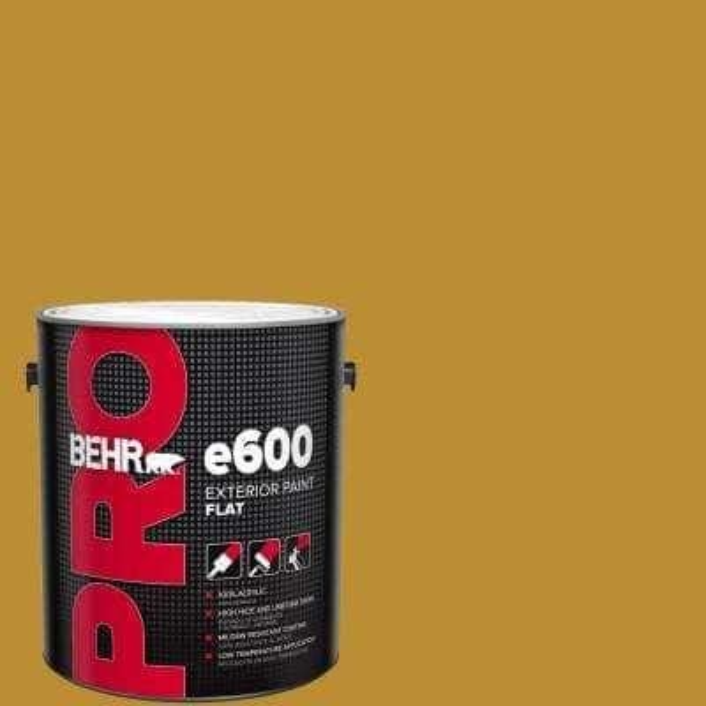 1 gal. #360D-7 Brown Mustard Flat Exterior Paint