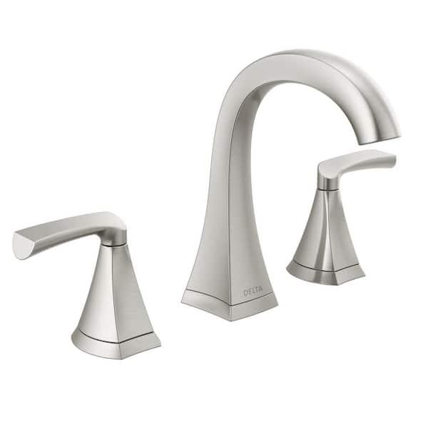 Delta Pierce 8 In Widespread 2 Handle Bathroom Faucet In Spotshield Brushed Nickel 35899lf Sp The Home Depot