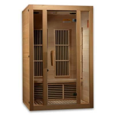 LifeSauna 2-Person Infrared Sauna with 6 Carbon Tech Heaters and Sound System