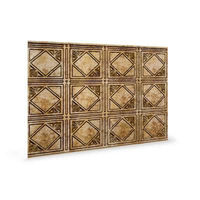 18.5'' x 24.3'' Artnouvo Decorative 3D PVC Backsplash Panels in Bronze 1-Piece