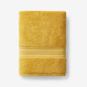 Company Cotton Deep Yellow Solid Turkish Cotton Bath Towel