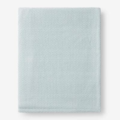 Organic Cotton Pale Blue Solid Twin Woven Blanket