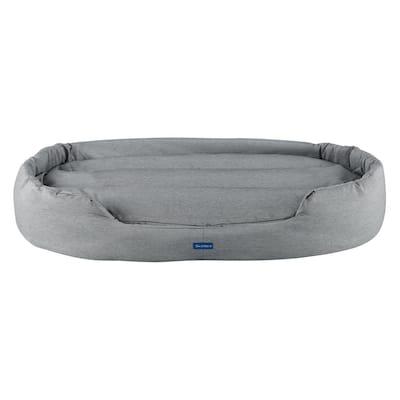 Missy Extra-Large Gray Round Dog Bed