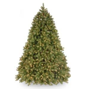 7-1/2 ft. Feel Real Deluxe Downswept Douglas Fir Hinged Tree with 1200 Dual Color LED Lights and Power Connect