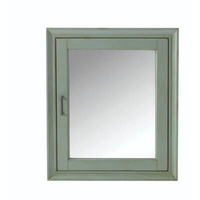 Hazelton 24 in. W Bathroom Medicine Cabinet in Antique Green