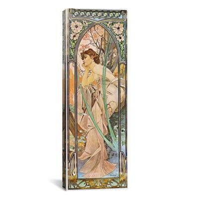 """""""Evening Reverie, 1899"""" by Alphonse Mucha Canvas Wall Art"""
