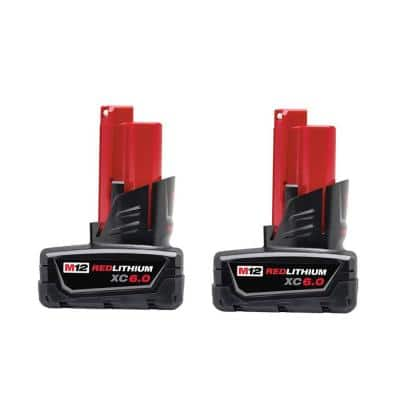 M12 12-Volt Lithium-Ion XC Extended Capacity Battery Pack 6.0Ah (2-Pack)