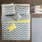 Laila 4-Piece Yellow Twin Duvet Cover Set