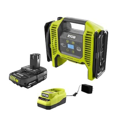 RYOBI - ONE+ 18V Cordless Dual Function Inflator/Deflator and 2.0 Ah Compact Battery and Charger Starter Kit