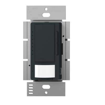 Maestro LED+ Dimmer and Vacancy Motion Sensor, Single Pole and Multi-Location, Midnight
