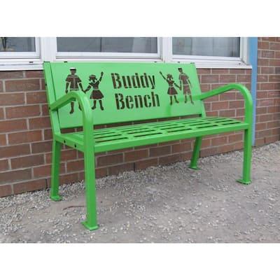 4 ft. Green Buddy Bench