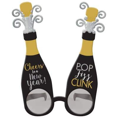 New Year's 8 in. Deluxe Glasses (2-Pack)