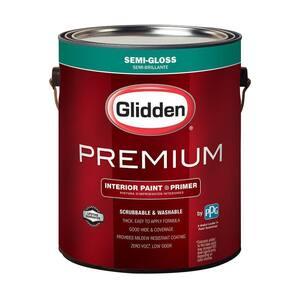 Glidden Premium 1 Gal Base 1 Semi Gloss Interior Paint Gln6411n 01 The Home Depot