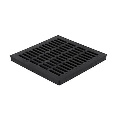 24 in. Square Drainage Catch Basin Grate in Black
