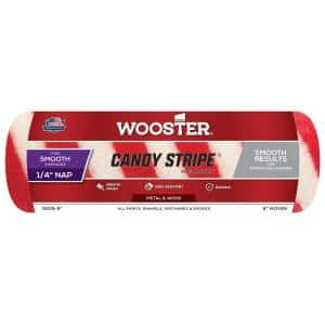 9 in. x 1/4 in. Candy Stripe Mohair Roller Cover