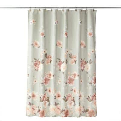 Holland Floral 72 in. Shower Curtain in Sage