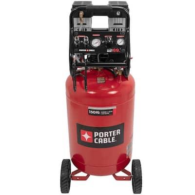 20 Gal. Quiet Oil Free Portable Vertical Electric Air Compressor