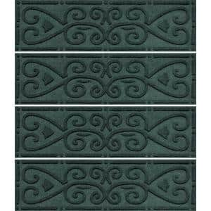 Scroll 8.5 in. x 30 in. Stair Treads (Set for 4) Evergreen