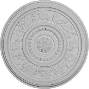 16-1/8'' x 5/8'' Marseille Urethane Ceiling Medallion (Fits Canopies upto 4-1/4''), Primed White