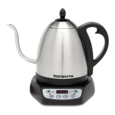 4.2-Cup Variable Temperature Silver Electric Kettle