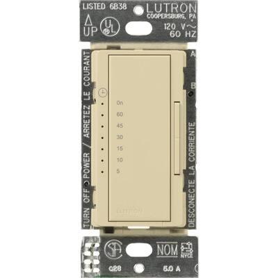 Maestro 5 Amp In-Wall Digital Timer - Ivory