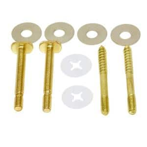 1/4 in. x 2-1/4 in. Toilet Floor Bolt and Screw Kit