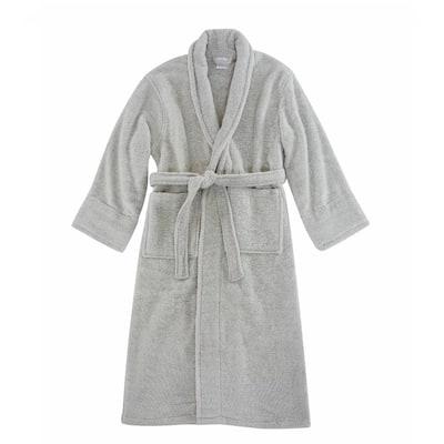 Opulent Cuddle Unisex Silver 100% Cotton Robe Super Soft