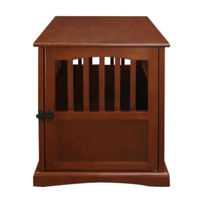 Small Pet Crate End Table, Walnut