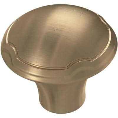 Athens 1-1/4 in. (32 mm) Champagne Bronze Theo Cabinet Knob