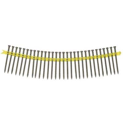 #10 x 2-3/4 in. Star Drive Trim Head Deck-Drive DCU Composite Collated Screws in Gray (1,000-Pack)