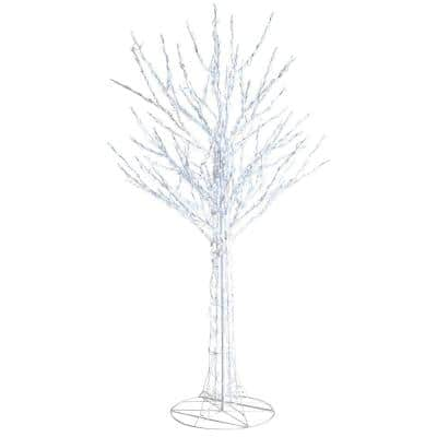 8 ft White 700-Light LED Bare Branch Tree