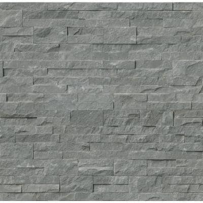 Mountain Bluestone Ledger Panel 6 in. x 24 in. Natural Sandstone Wall Tile (10 cases /60 sq. ft. / Pallet)