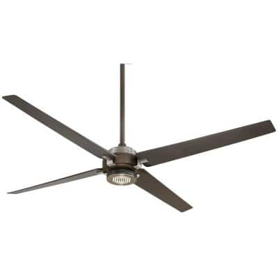 Spectre 60 in. Integrated LED Indoor Oil Rubbed Bronze with Brushed Nickel Ceiling Fan with Light with Remote Control