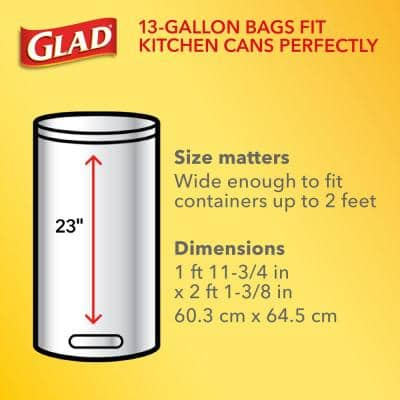 ForceFlex 13 Gal. Clean Citrus White Clorox Antimicrobial Tall Kitchen Drawstring Trash Bags (40-Count) (2 Boxes)