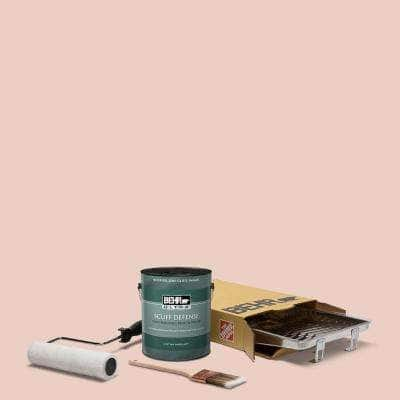1 gal. #S180-1 Angelico Extra Durable Semi-Gloss Enamel Interior Paint and 5-Piece Wooster Set All-in-One Project Kit